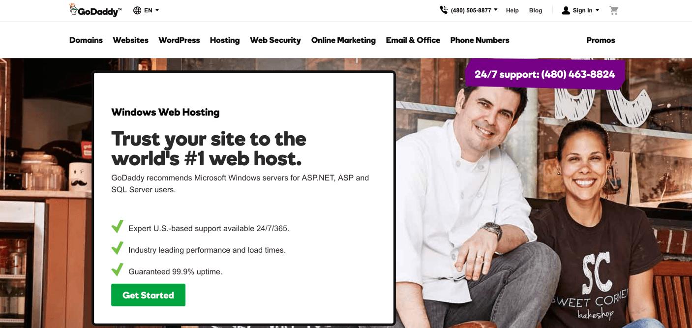 godaddy asp.net