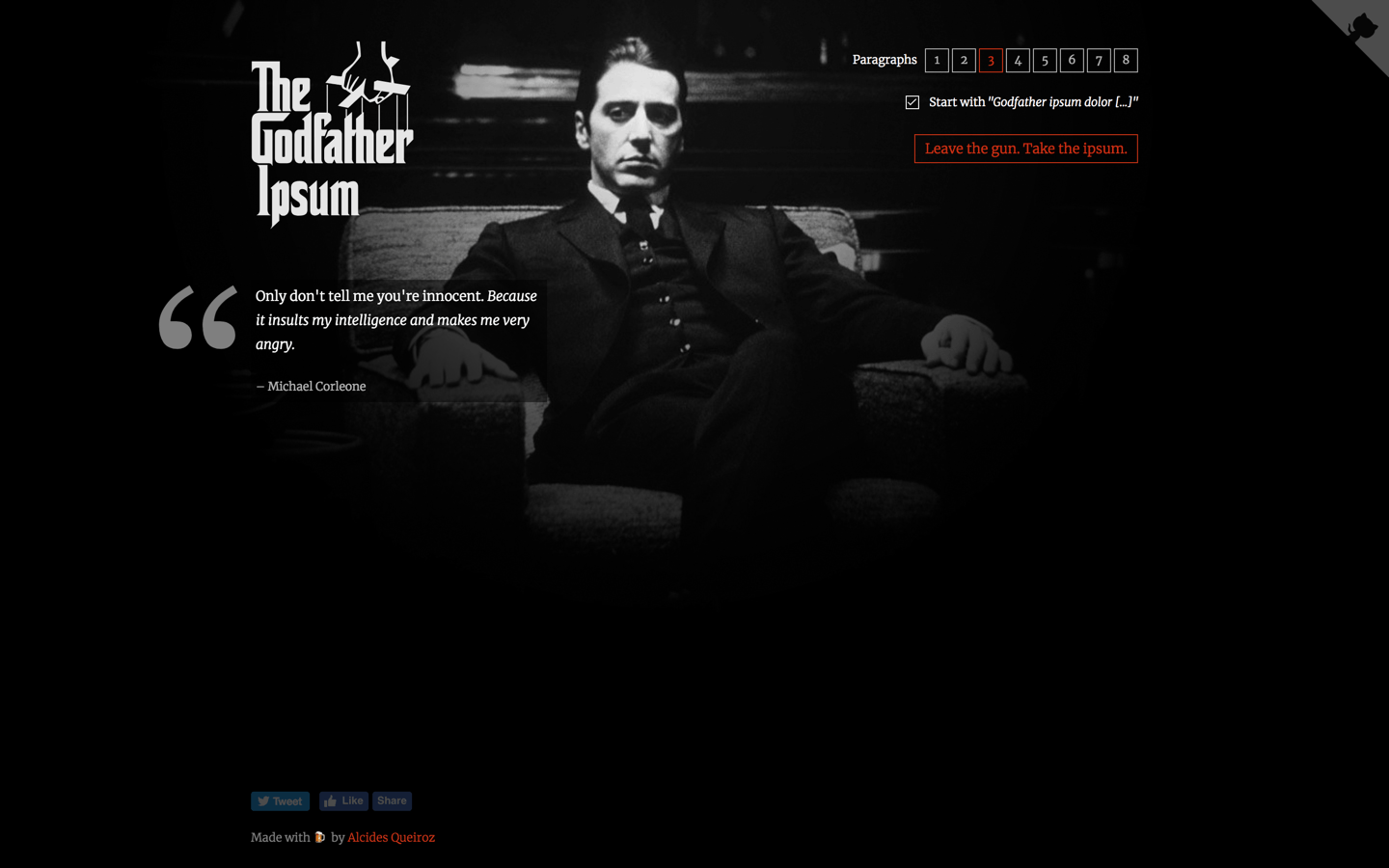 godfather ipsum