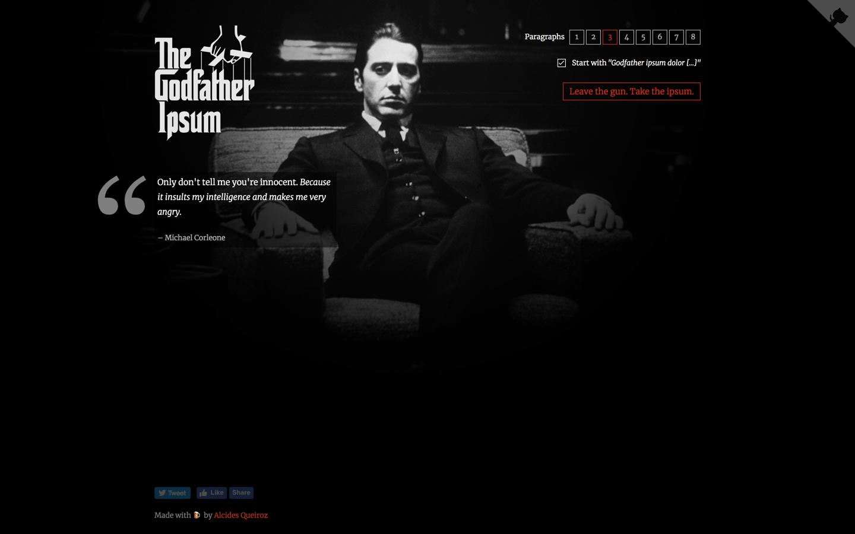 godfather ipsum