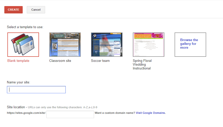 Screen shot of Google Site Classics