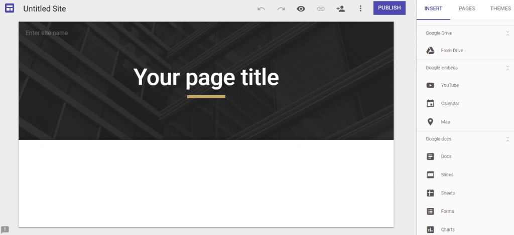 Google Sites New