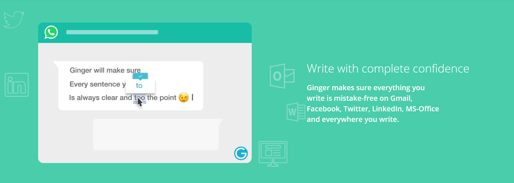 ginger writing tool