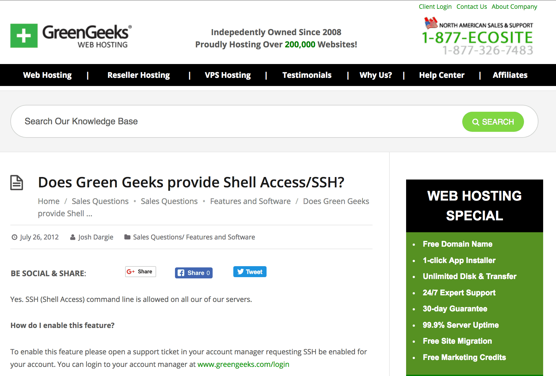 SSH Access Hosting: Need SSH Access WIth Your Host? Check