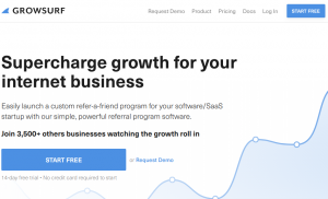 growsurf homepage