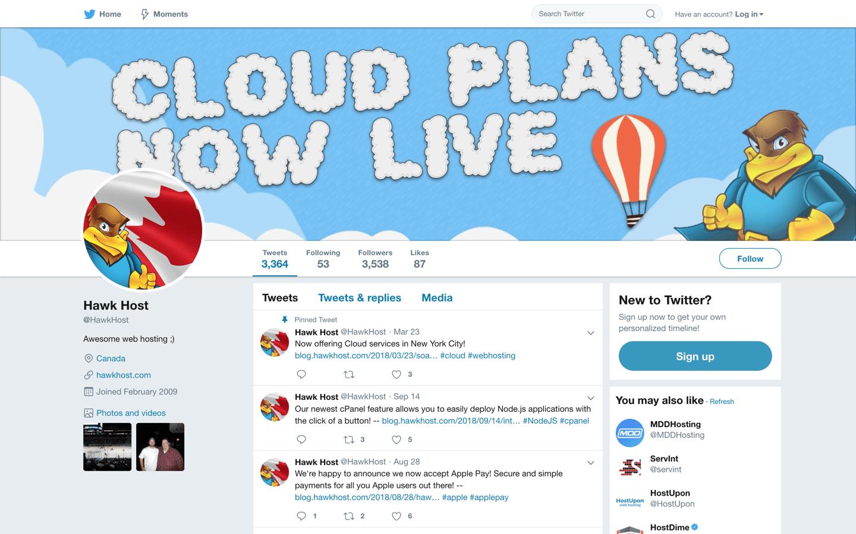 hawk host twitter