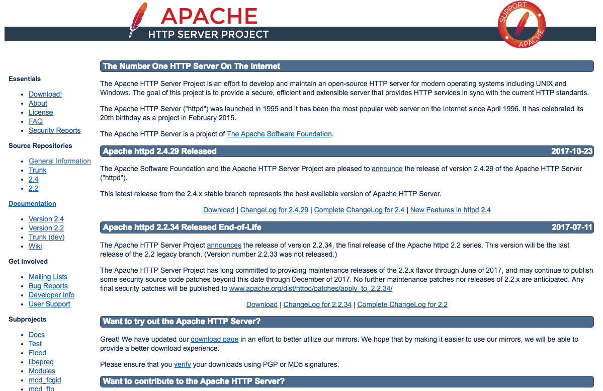 Apache Home Page