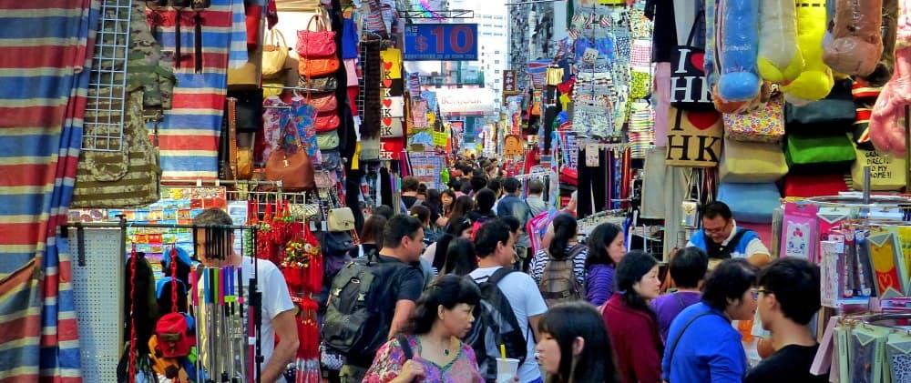 Mercado callejero de Hong Kong