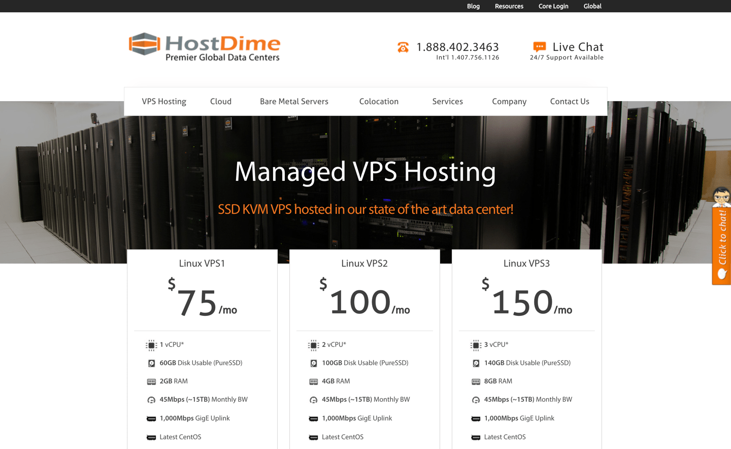 HostDime review