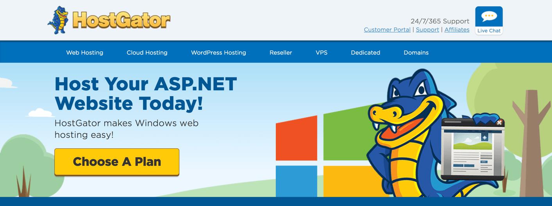 hostgator asp.net