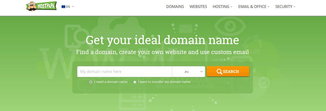 HostPapa Free Domain Hosting