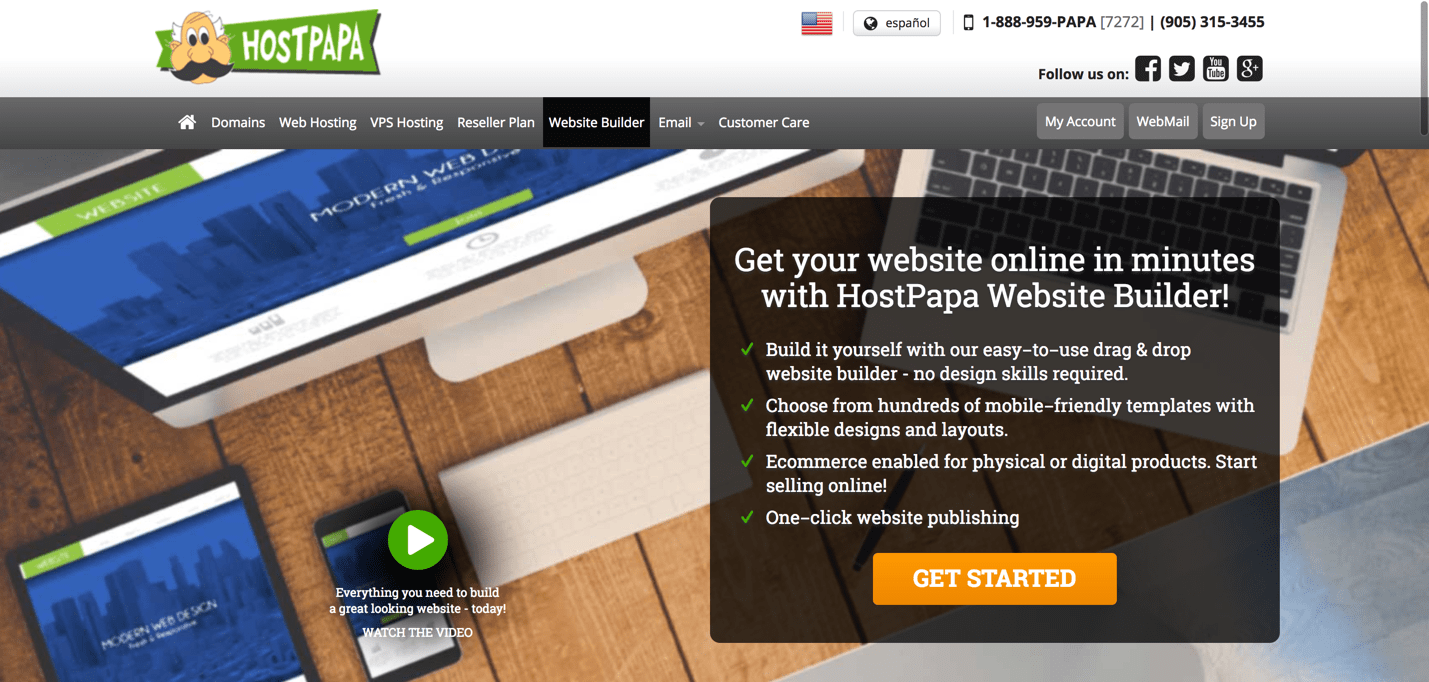 HostPapa website builder