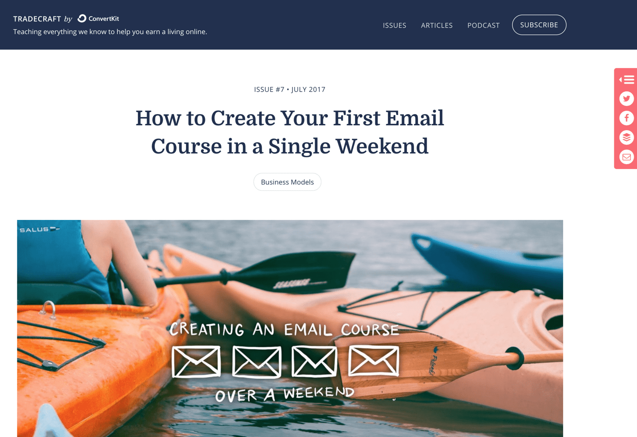 How to create email course