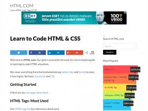 HTML.com homepage