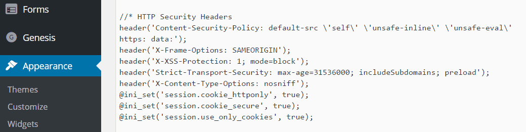 HTTP Security Headers