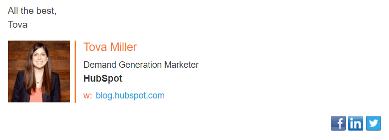 hubspot email signature