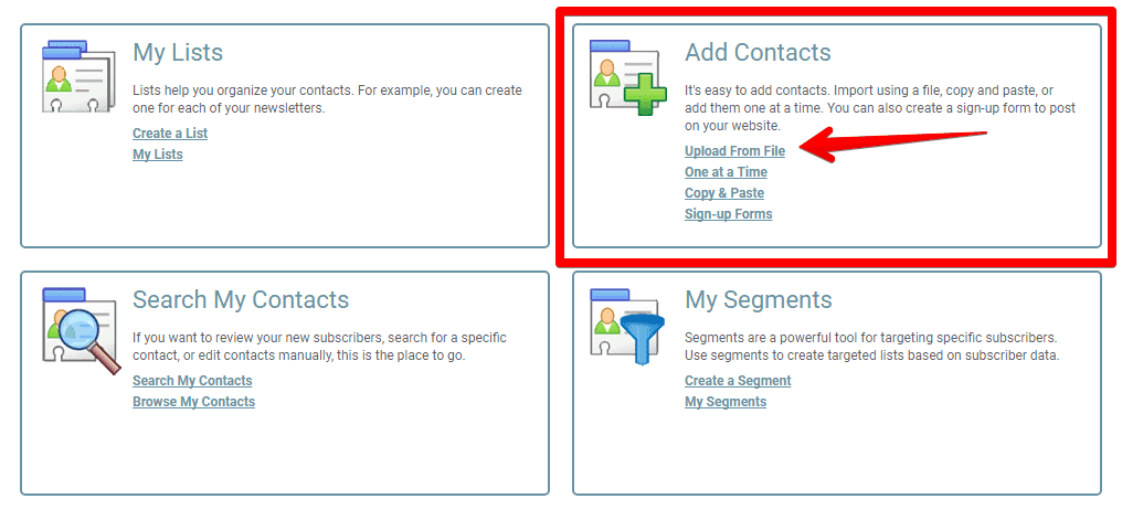 iContact contacts
