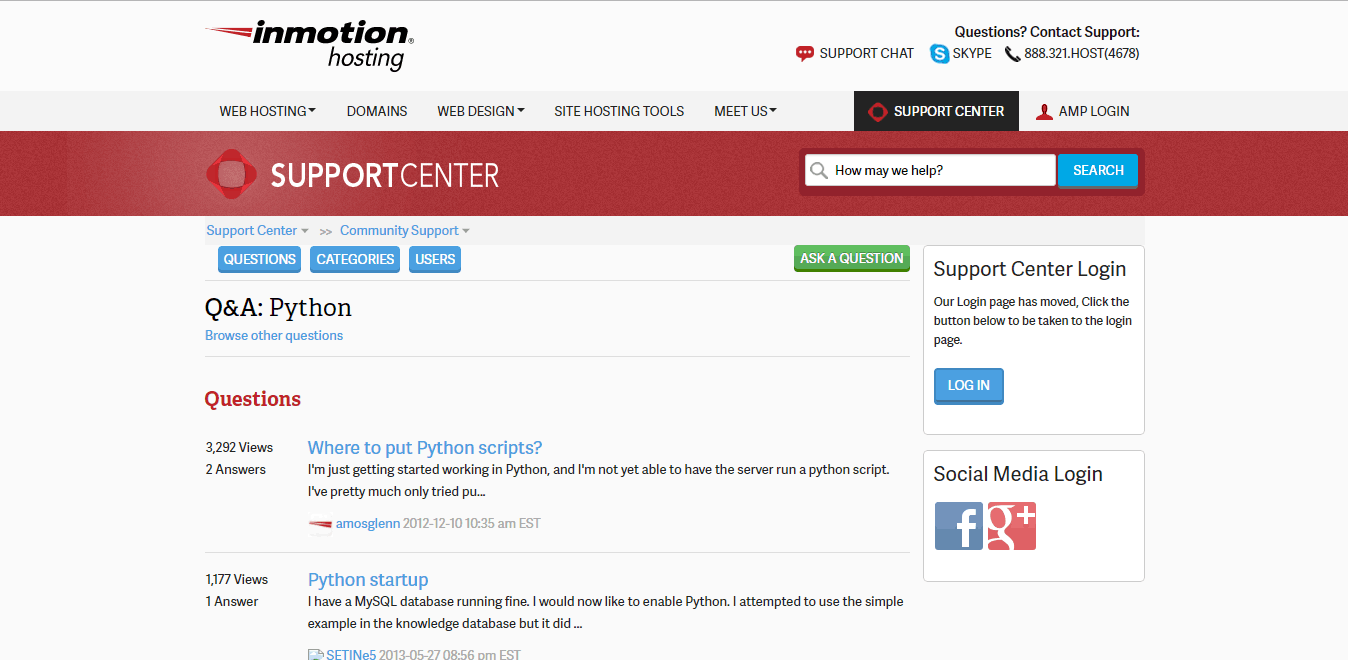 InMotion Hosting Screenshot
