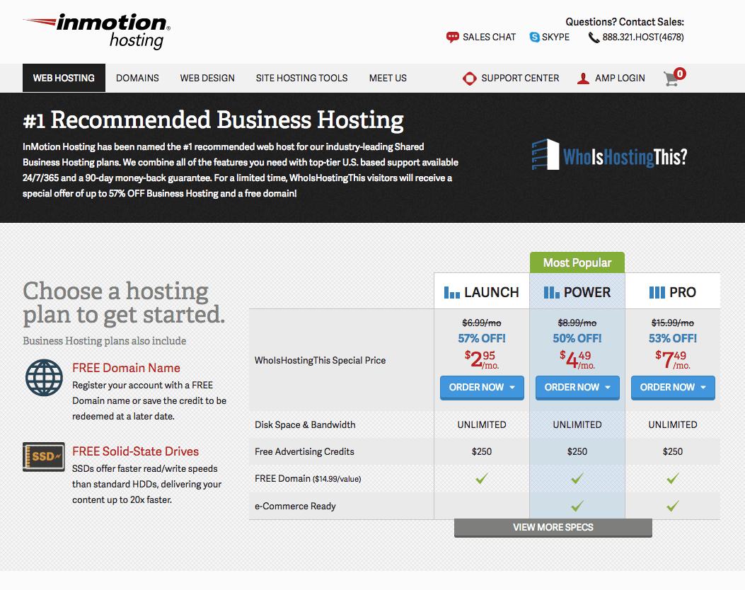 InMotion Home Page