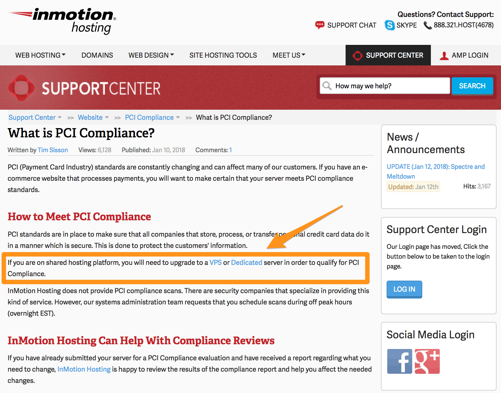 InMotion's PCI Information Page