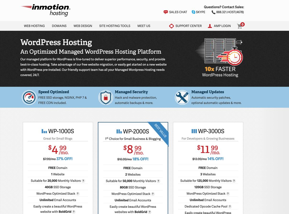 inmotion woocommerce hosting