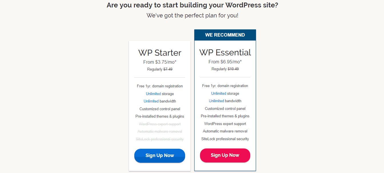 WordPress Hosting with iPage