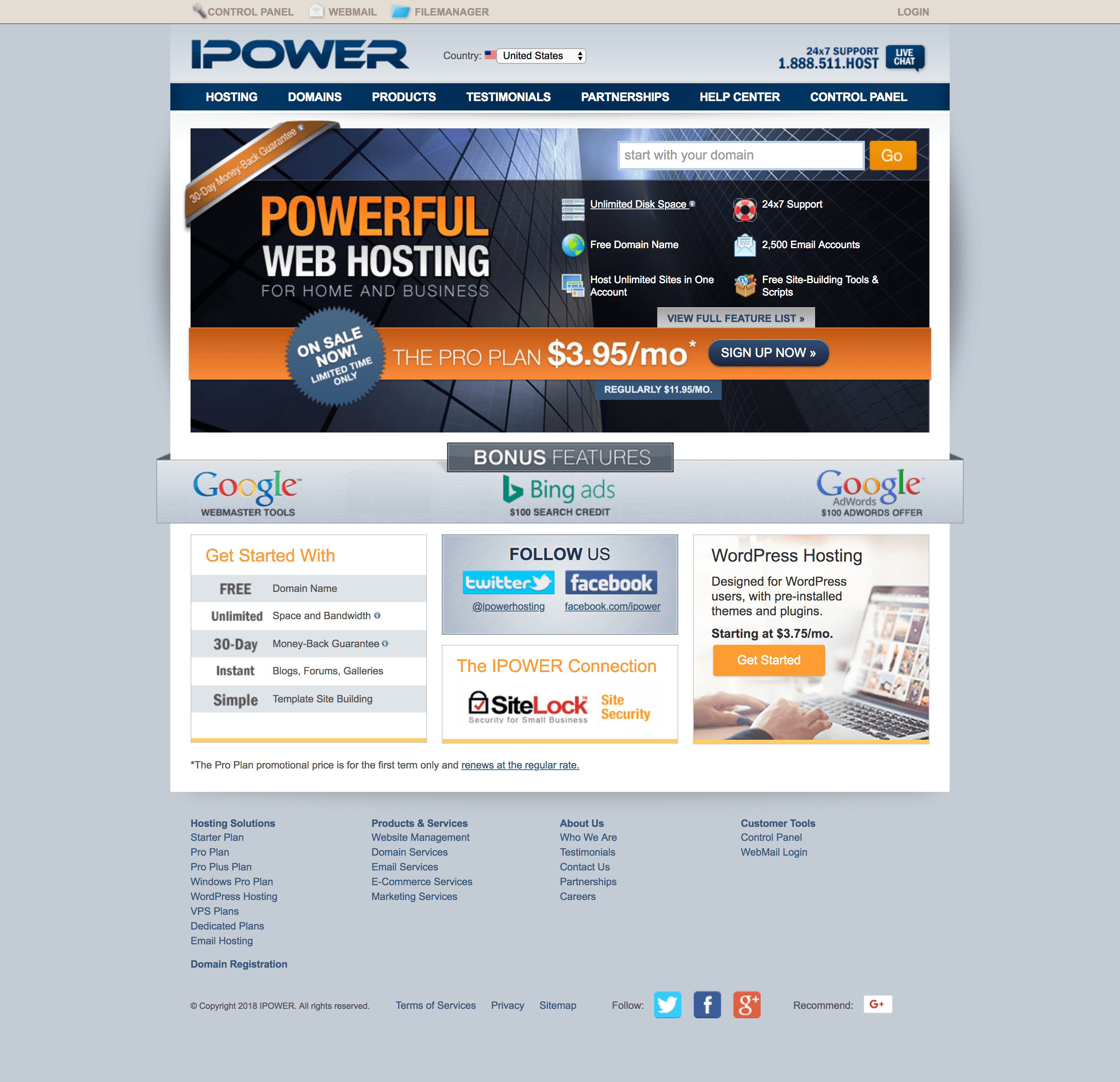 ipower homepage
