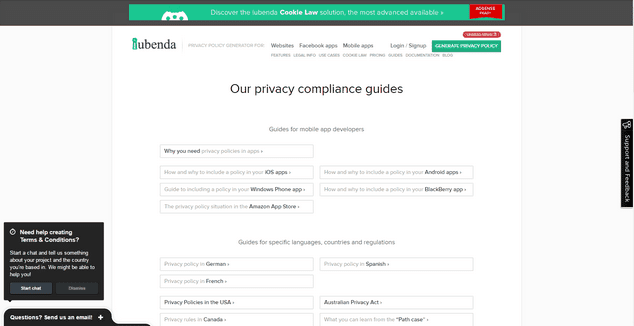 Iubenda Privacy Policy Creator