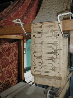 Punch cards used by Jacquard loom