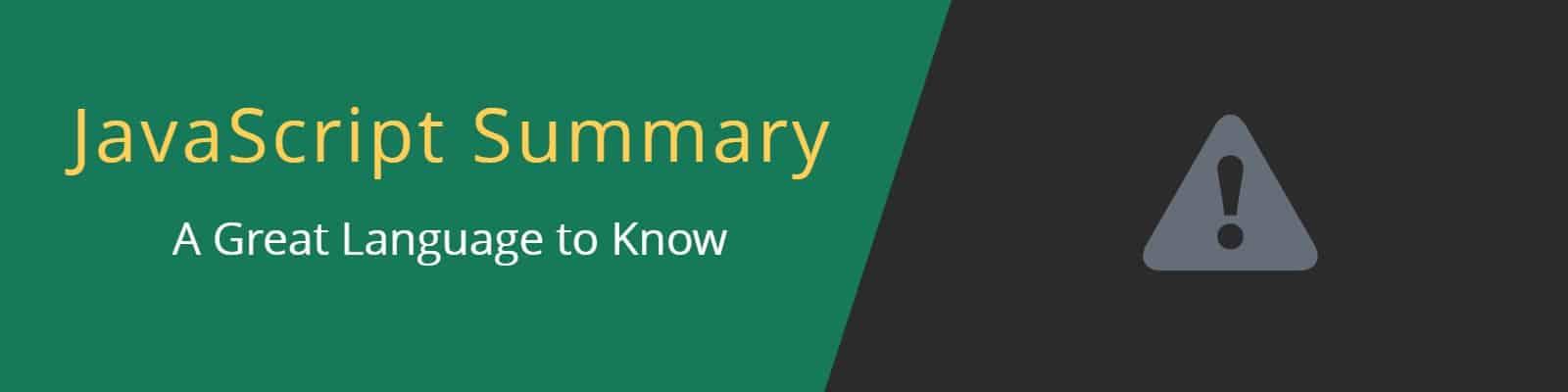 JavaScript Summary