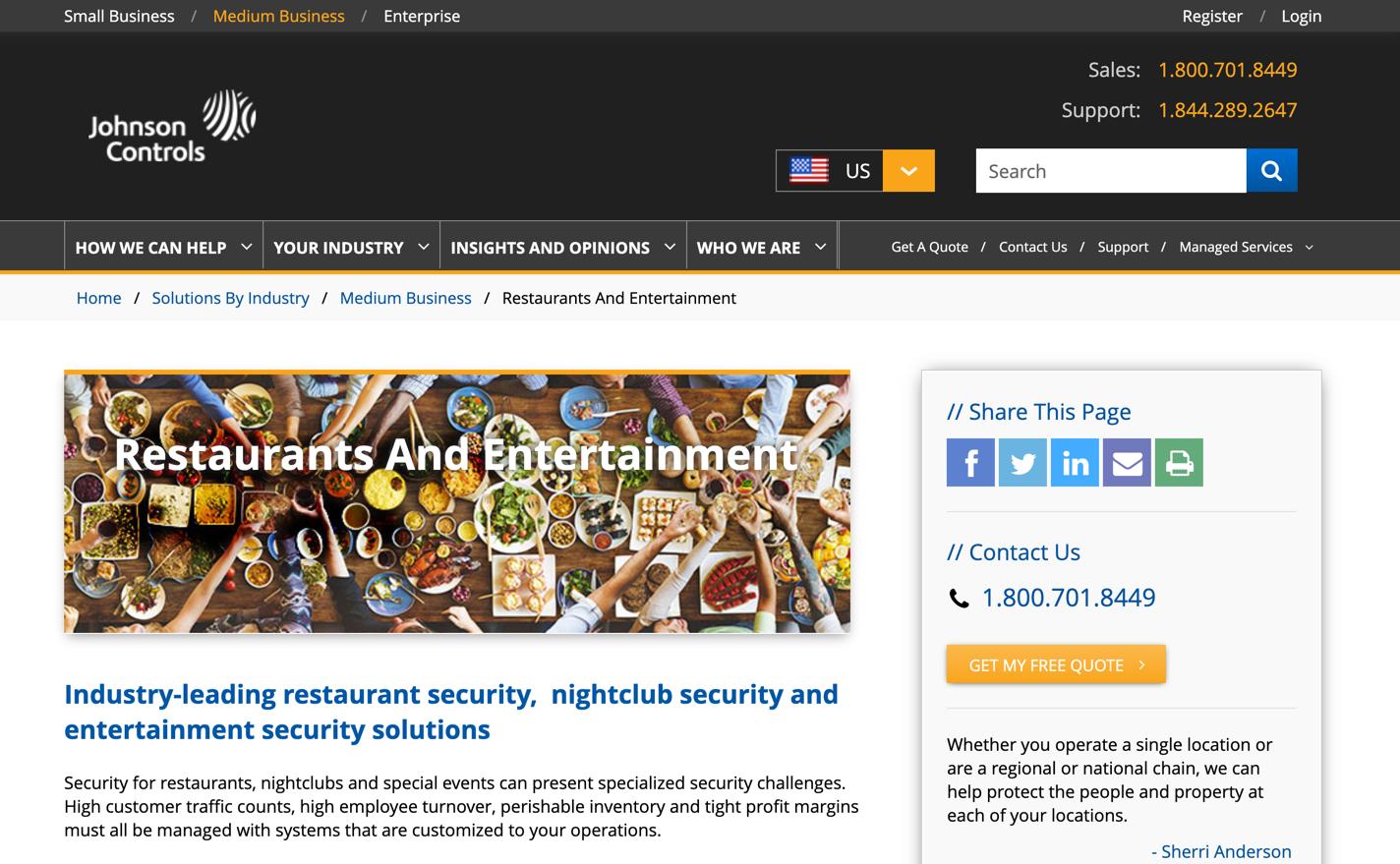 johnsoncontrols homepage