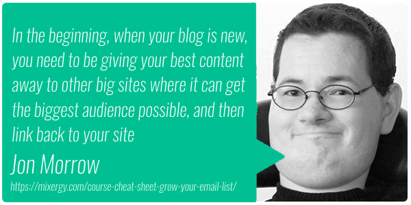 Jon Morrow on Guest Blogging
