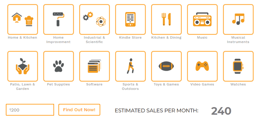 junglescout sales estimator