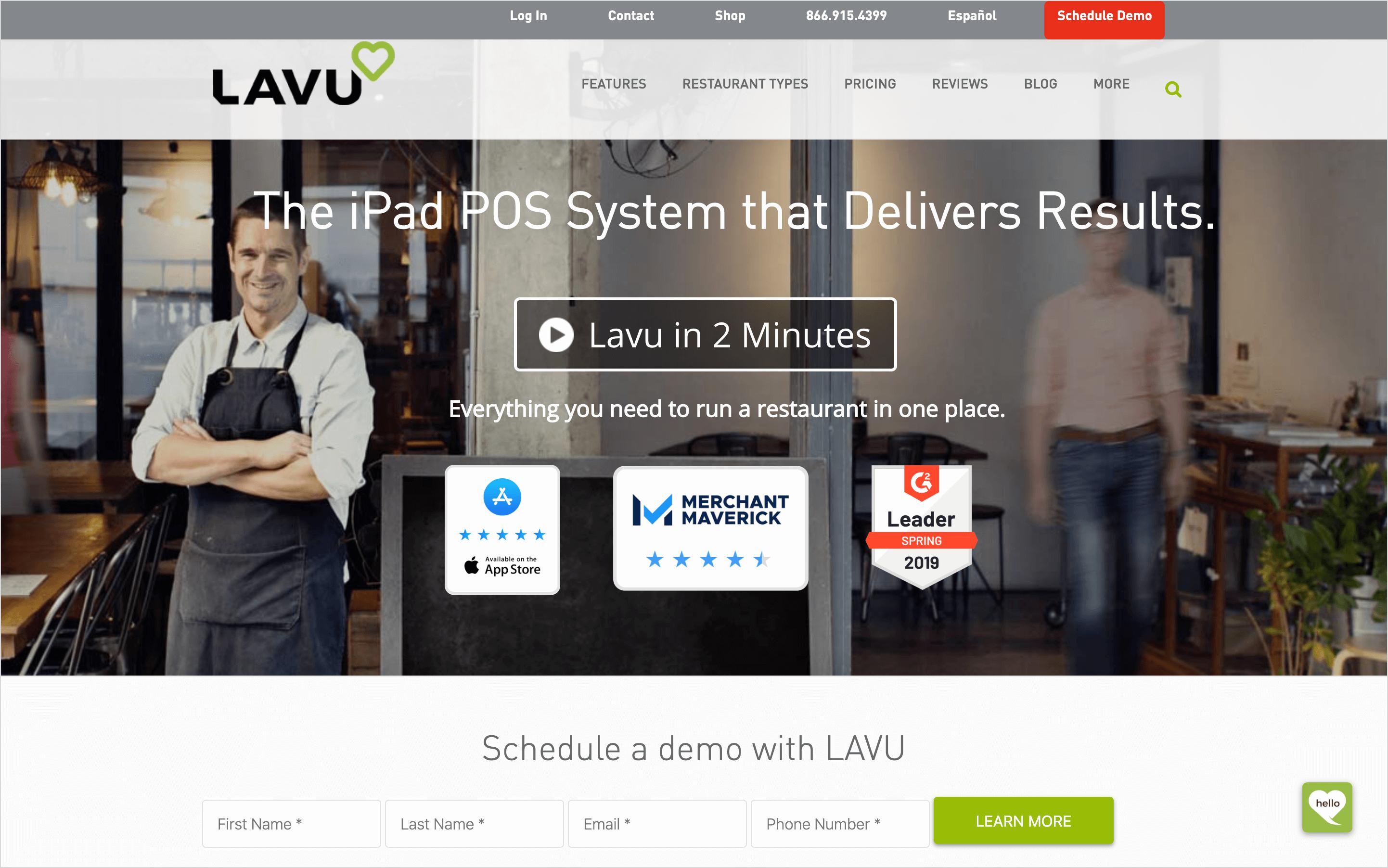 lavu homepage