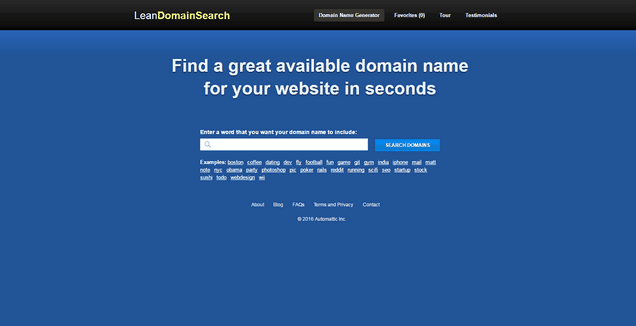 Lean Domain Search generator