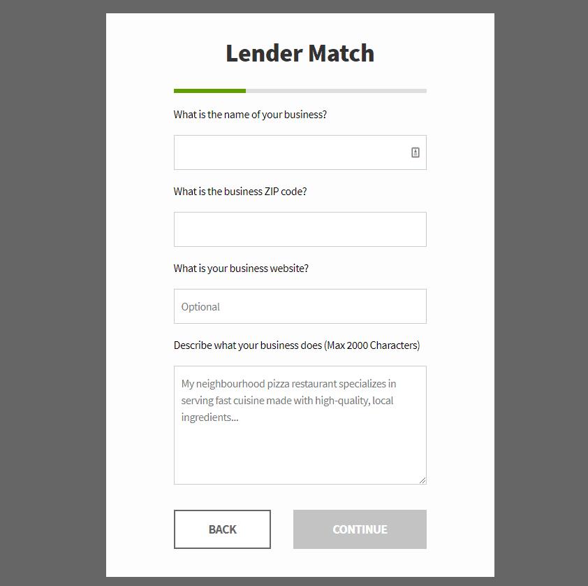 lender match form