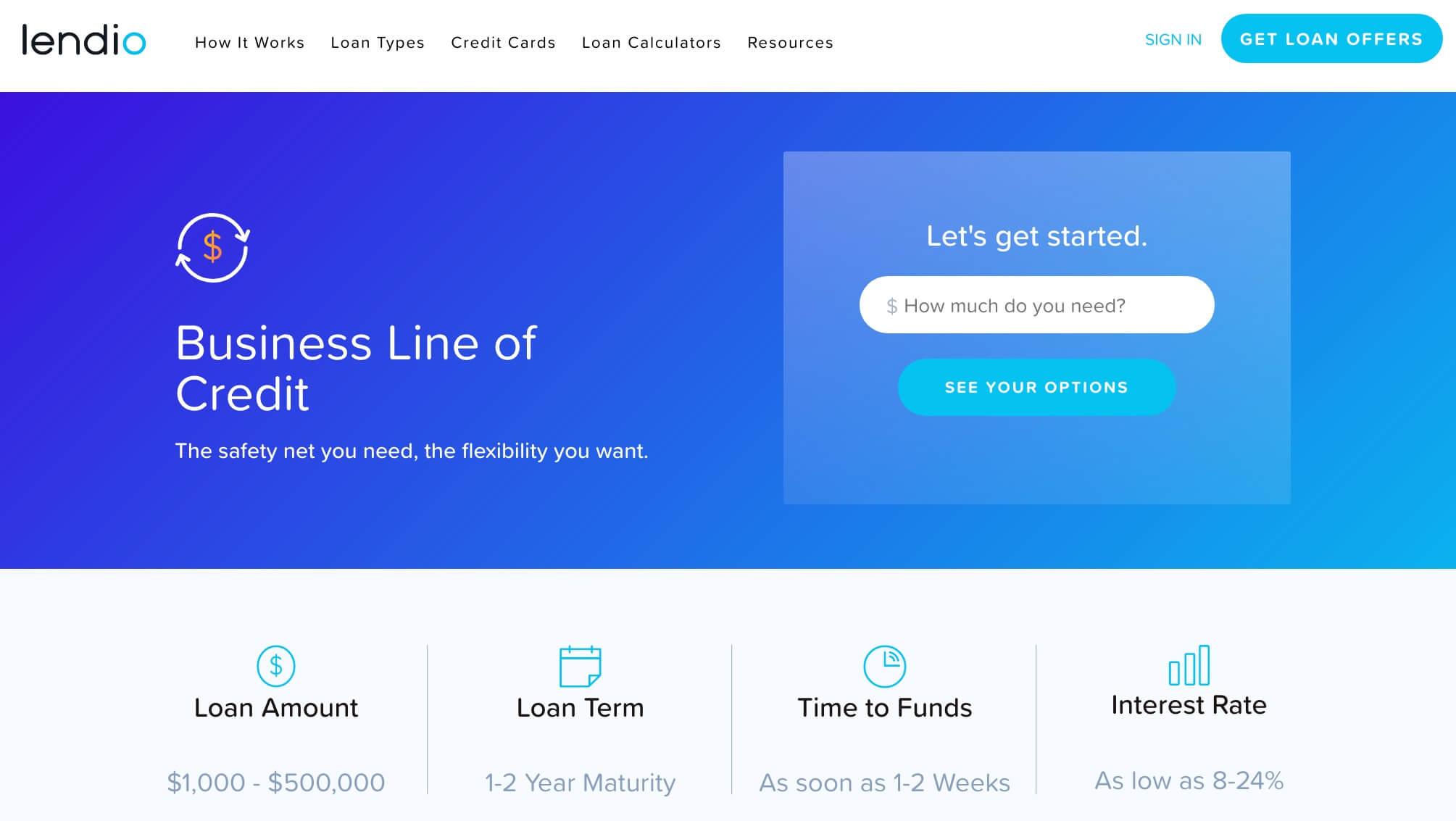 Lendio business line of credit