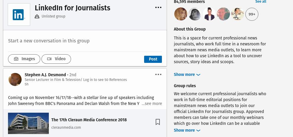 Linkedin Groups screenshot via Digital.com