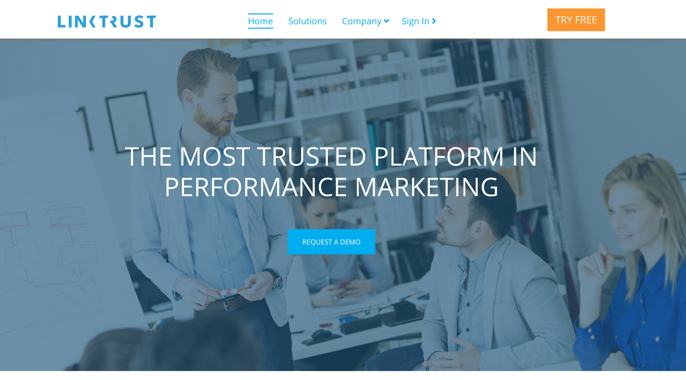 linktrust homepage