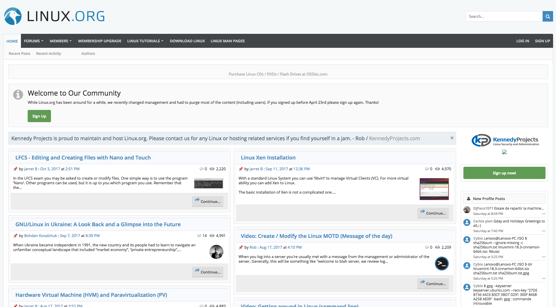 Linux Homepage
