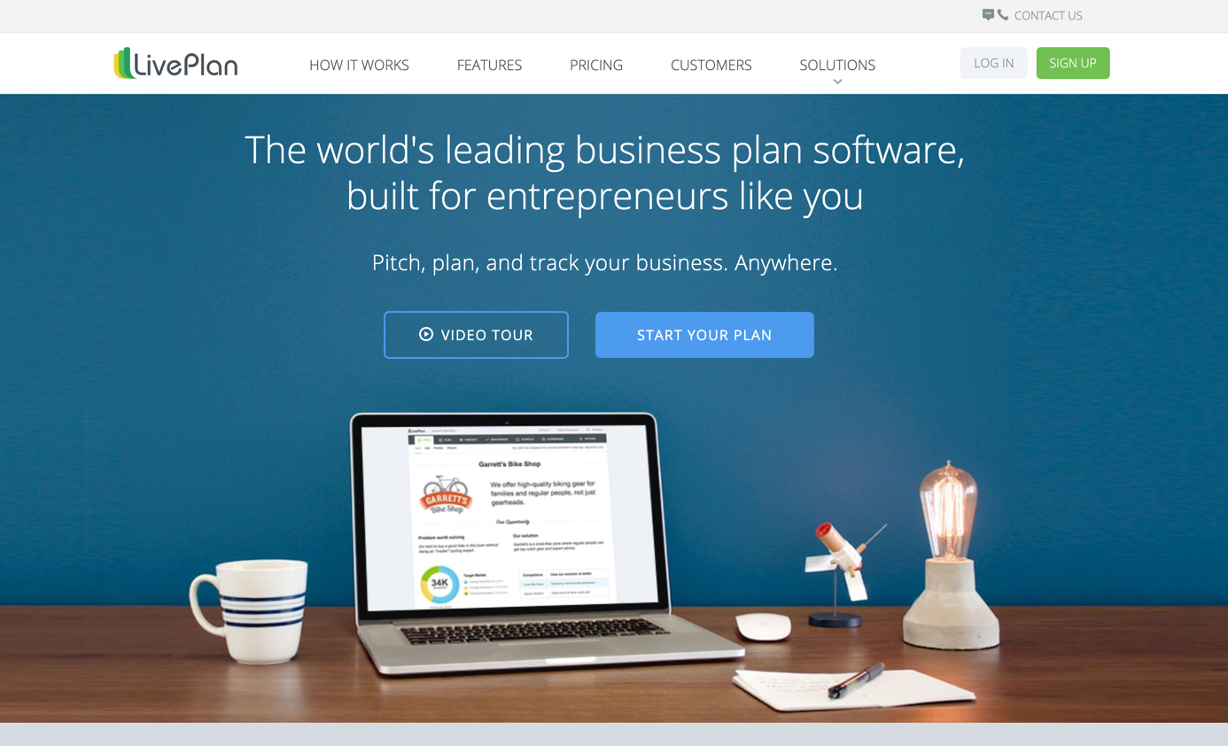 liveplan homepage