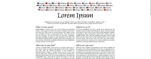 Lorem Ipsum Creator