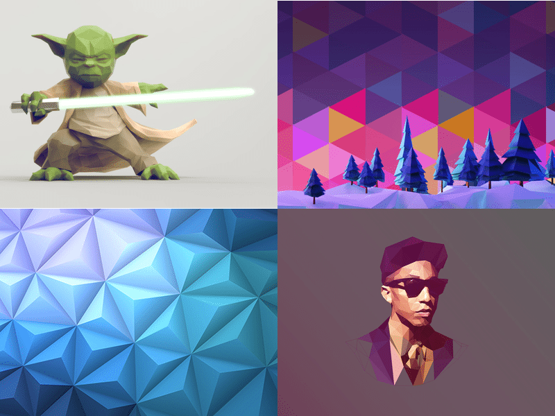 low polygonal image examples