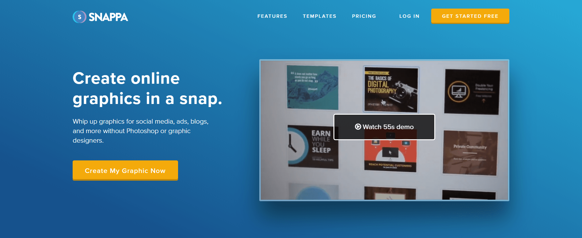 Snappa Landing Page