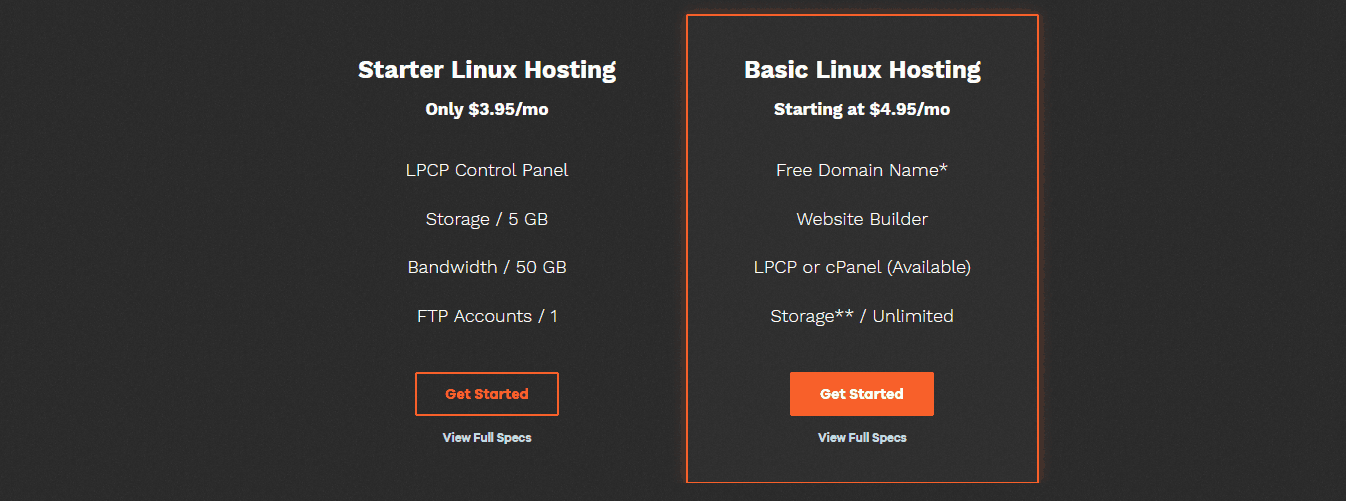 Lunarpages Shared Hosting