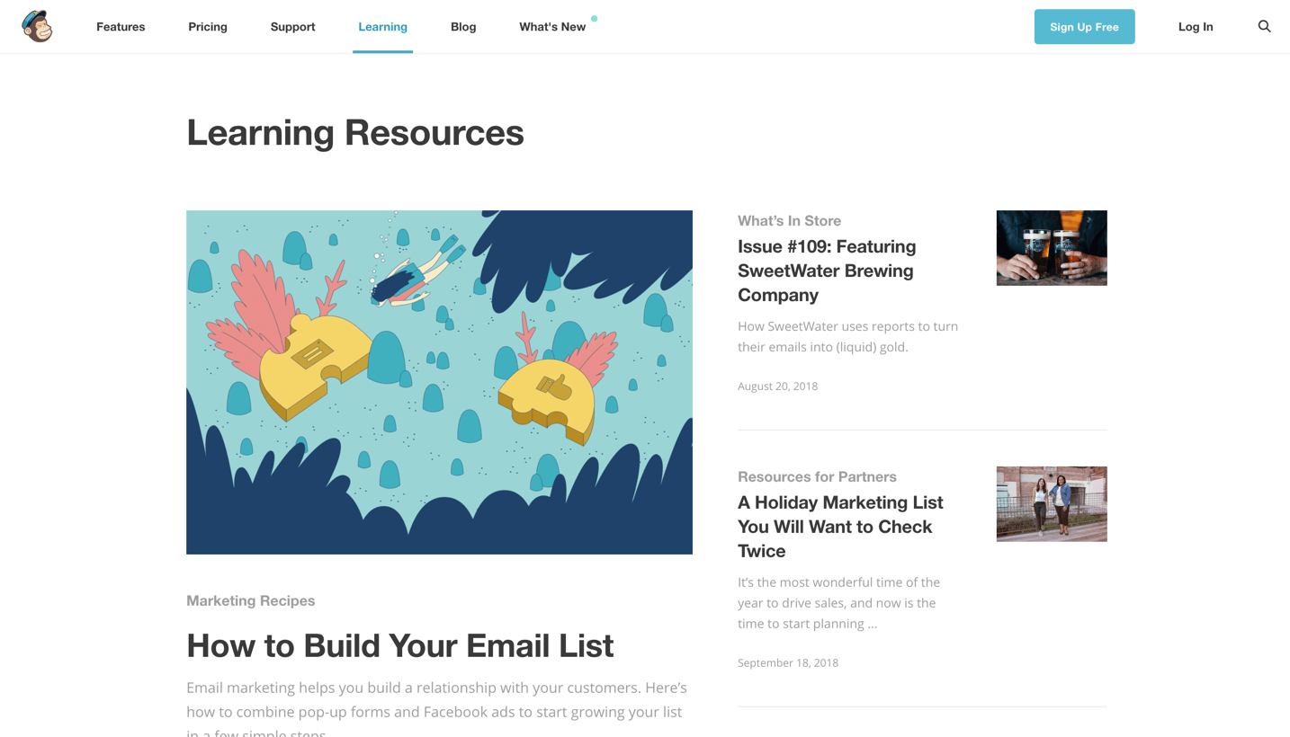 mailchimp learning resources