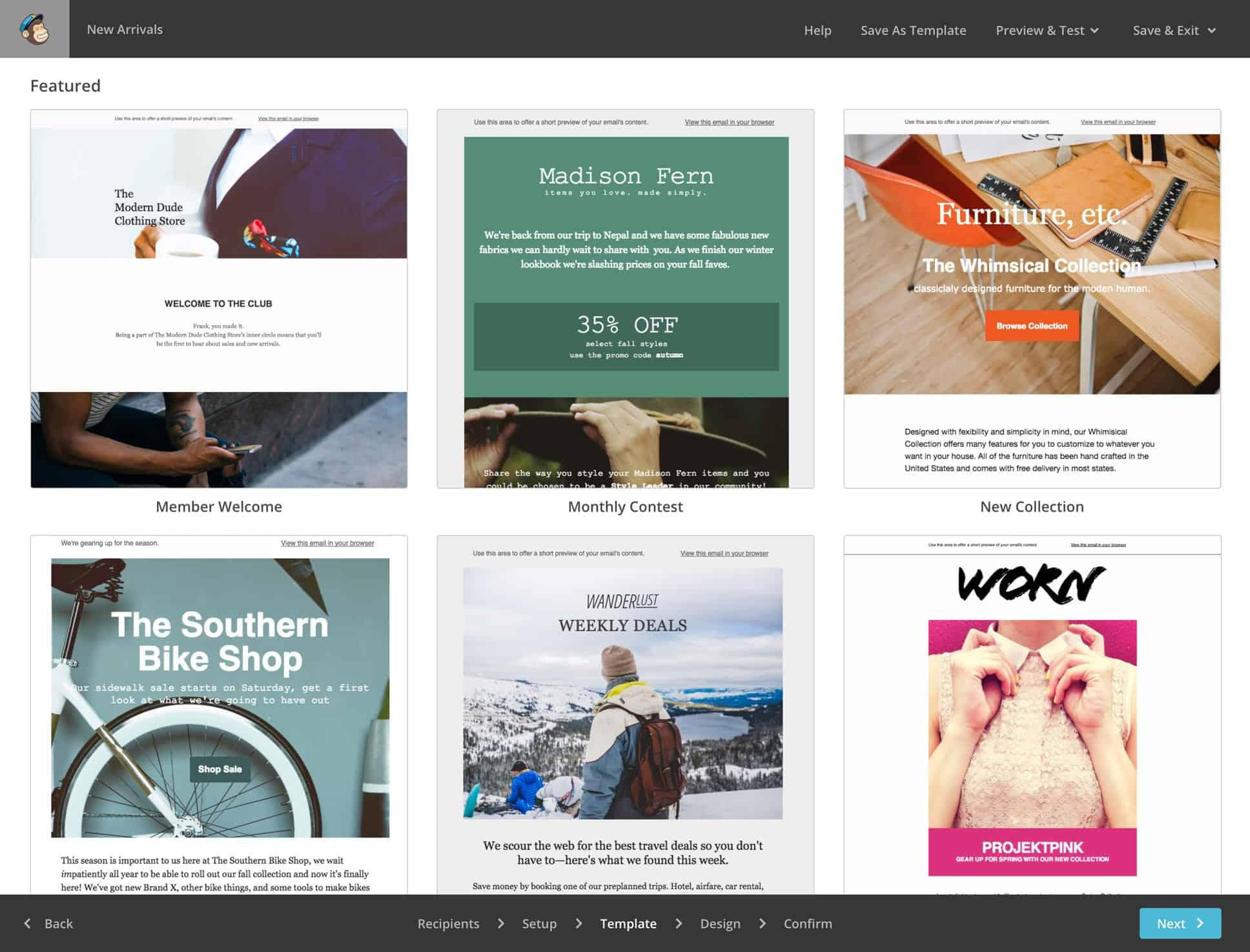 great mailchimp templates - online marketing for offline businesses