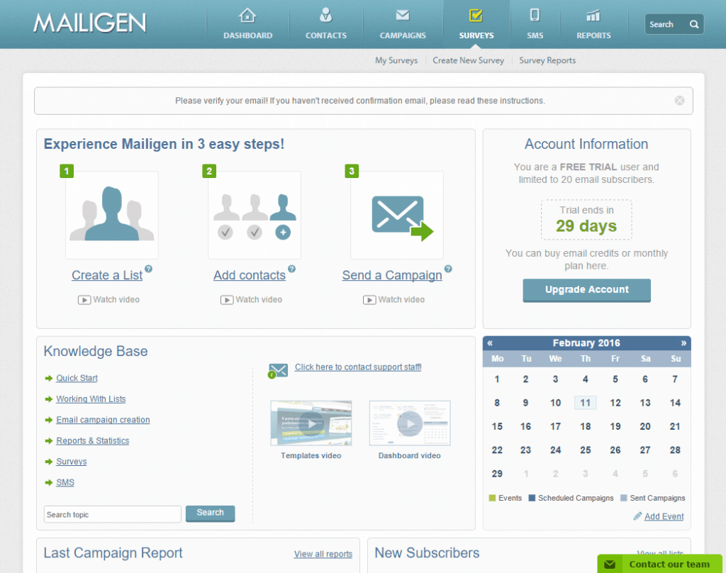 Mailigen resources for users