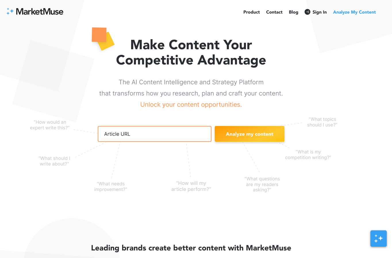 marketmuse homepage