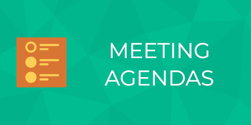 meeting agendas