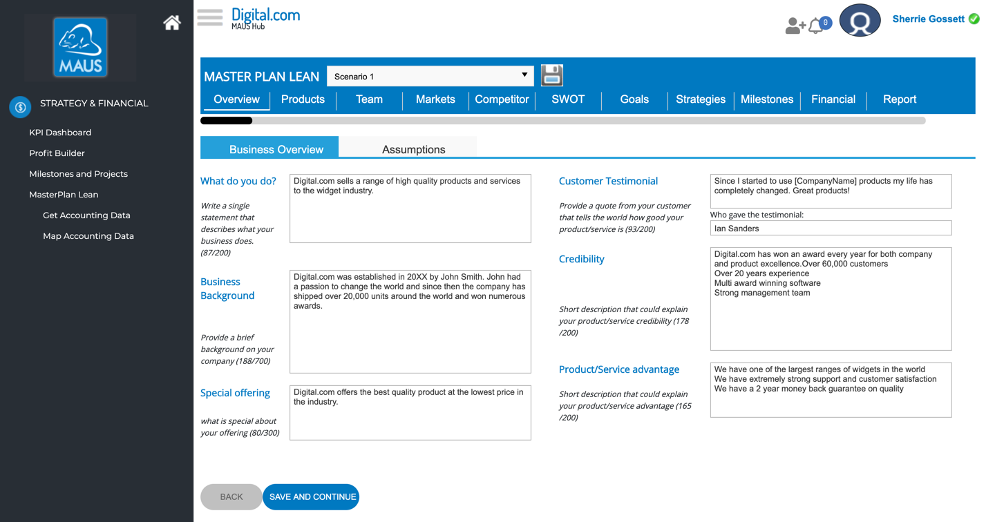 meisterplan lean dashboard